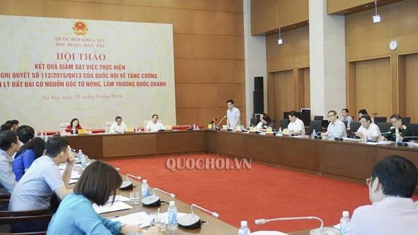 Các đại biểu trao đổi tại hội thảo (Ảnh: Cổng TTĐT Quốc hội)