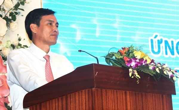 Thứ trưởng Bộ Tài nguyên và Môi trường Trần Quý Kiên phát biểu tại Hội nghị