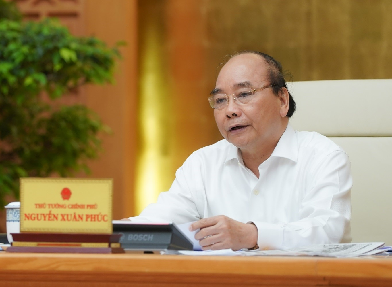 Thủ tướng kết luận cuộc họp Thường trực Chính phủ chiều 22/4. Ảnh: VGP/Quang Hiếu